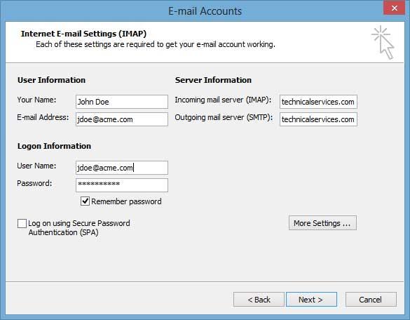 Outlook 2003 Setup 4