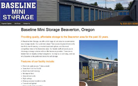 Baseline Mini Storage Web Site Thumbnail