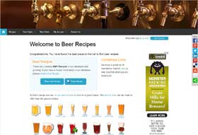 Beer Recipes Web Site Thumbnail