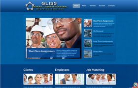 General Labor & Industrial Staffing Services Web Site Thumbnail