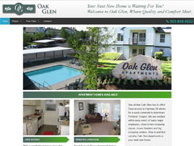 Oak Glen Apartments Web Site Thumbnail