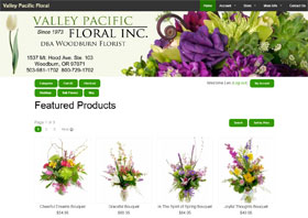 Valley Pacific Floral Web Site Thumbnail