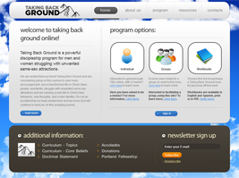 Taking Back Ground Web Site Thumbnail